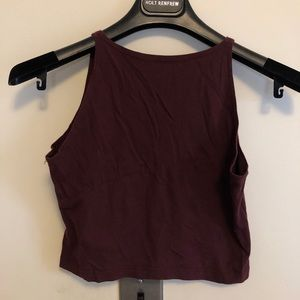 American apparel maroon crop top